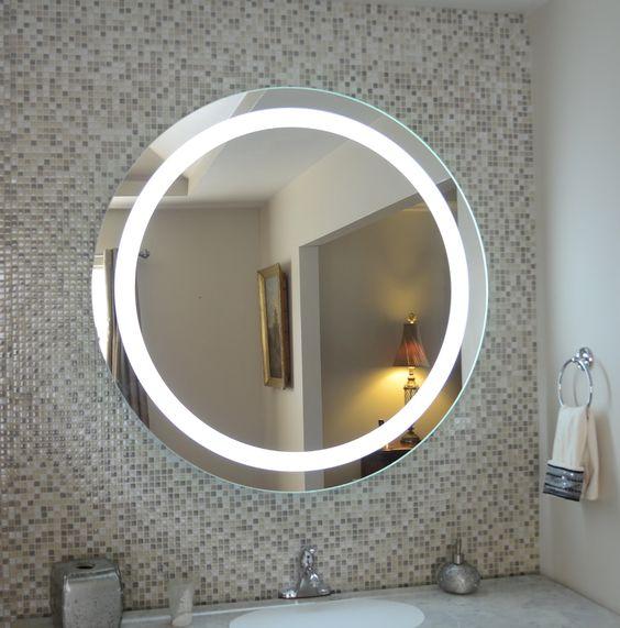 Gương tròn lắp nhà tắm