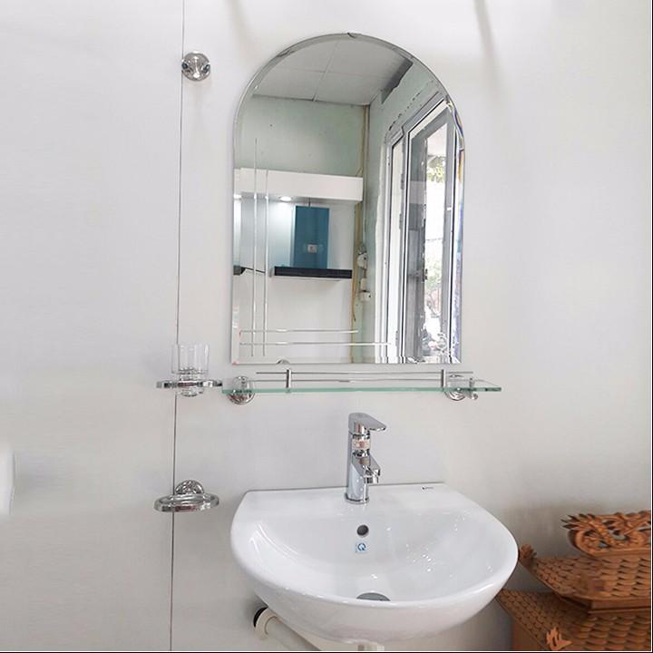 Gương vòm lắp nhà tắm