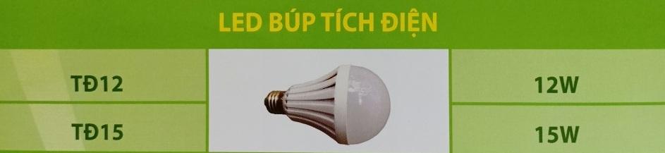 Đèn led buld tích điện