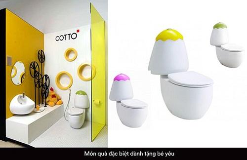 bệt vệ sinh cho trẻ em