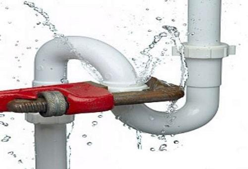 đường ống nước bị vỡ